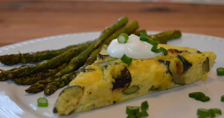 Zucchini & Asparagus Frittata with Melted Leeks