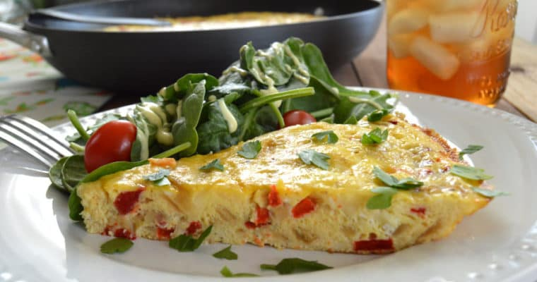 Red Pepper & Caramelized Onion Frittata