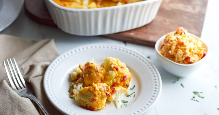 Whole Roasted Cauliflower with Pimento Cheese Butter